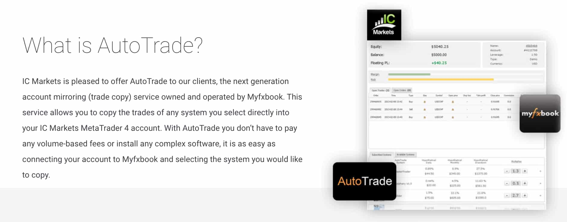 IC Markets AutoTrade MT4 Best Singapore MT4 Forex Brokers